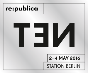 Bild Logo re:publica 2016 10. Kongress Station Berlin #rpten #rp16
